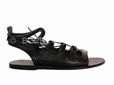 Leather Lace Up Solid Sandals & Flip Flops for Women