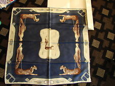 """Erte Silk Scarf  """"Lady and the Panther"""" Great to Wear or to Frame"""