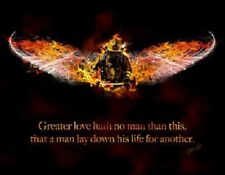 No Greater Love (firefighter) by Jason Bullard Print 18x14