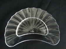 Villeroy & Boch Clear Glass Crystal Paloma Picasso Crescent Salad Plate VGC