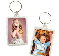 10 Transparent Blank Insert Photo Picture Frame Key Cain Ring Keychain Usa Ship