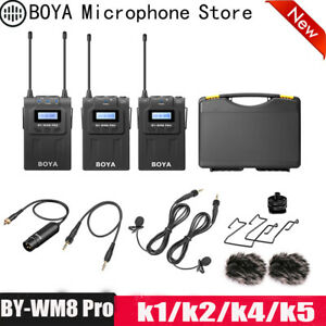BOYA BY-WM8 Pro K1 K2 UHF Dual Wireless Microphone Interview Mic for DSLR Camera