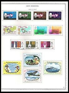 NEW HEBRIDES 1966-72 ISSUES ON 3 PAGES (LHM) *CLEAN & FRESH*