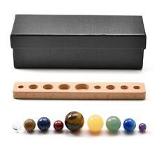 9 Planets Quartz Crystal Natural Stone Sphere Beads Desk Display Home Descor