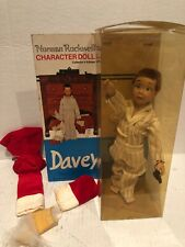 1979 Norman Rockwell Davey The Santa Claus Costume Boy Porcelain Doll in Box