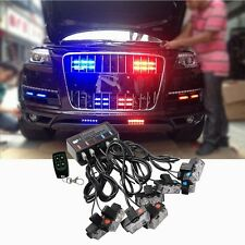 1 Kit LED Car Truck Emergency Warning Wireless Strobe Lights Bars Dash Grill UK