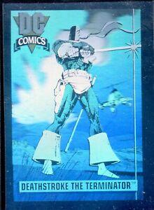 1991 IMPEL DC COMICS I HOLOGRAM INSERT # DCH-3  DEATHSTROKE THE TERMINATOR,