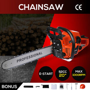 Chainsaw Petrol Commercial Chainsaws E-Start Tree Pruning Top Handle Wood Cutter