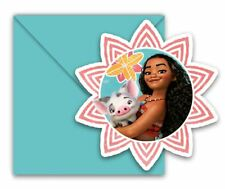 6pk Moana Invitations & Envelopes Children's Birthday Party Stationary