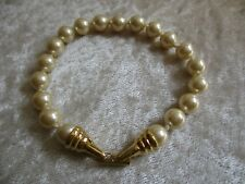 Joan Rivers Gold Tone Faux Pearl Bracelet