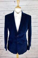 NEW Tommy Hilfiger Men's Blue Pindot Velvet Jacket Blazer 40R MSRP $295