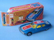 Lesney Matchbox Superfast 51 Citroen SM Streaker Yellow Seat Boxed Fish Tail