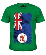 Tasmania Grunge Bandera Infantil Camiseta Top Tasmania Camiseta Regalo
