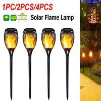 1pc/2pcs/4pcs 33LED Light Solar Flame Light Outdoor Waterproof Garden Torch Lamp