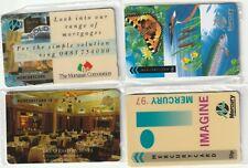 Mercury Phonecards, 4 x Different Mercury Phonecards, unused sealed(3)