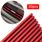 10x Auto Car Accessories Red Air Conditioner Air Outlet Decoration Strip Cover