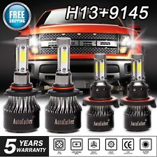 H13 9008 LED Headlight+9005 9145 9140 Fog Light for 05-2014 Ford F-150 F250 F350