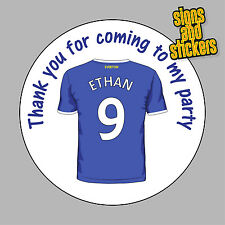 40 Personalised Everton Party Stickers Bag Seals Invites any name age toffees