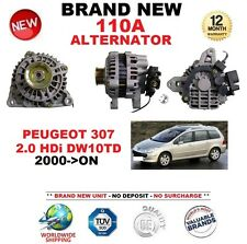 FOR PEUGEOT 307 2.0 HDi DW10TD 2000-ON NEW 110A ALTERNATOR ** OE QUALITY **