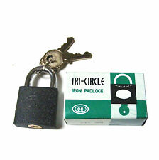 SMALL LITTLE 25MM LUGGAGE BAG SOLID IRON METAL PADLOCK PAD LOCK WITH 2 KEYS