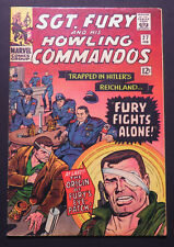 Sgt Fury and His Howling Commandos 27, origin of Fury's eye patch, Feb 1966