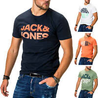 Jack & Jones Herren T-Shirt Print Shirt Kurzarmshirt Short Sleeve Top Shirt SALE