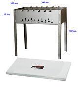 Mangal Standard Schaschlik Grill mit 6 Edelstahlspießen Grillfläche 50x30 cm