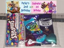 12 Personalised Party Lolly Bags with Pirates & Princesses Dora and Diego Print