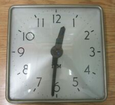 IBM Antique Metal Square Wall Clock - Vintage School & Industrial Clocks