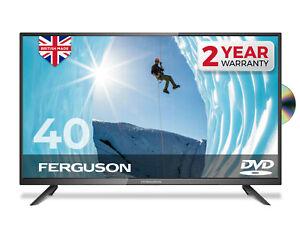 "FERGUSON 40"" LED TV WITH FREEVIEW HD & DVD PLAYER FULL HD 1080P 3 x HDMI & USB"