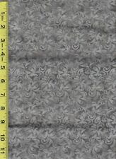 Gray/Pewter Scrollwork print Quilt fabric 100% Cotton- 1/2 yard(18