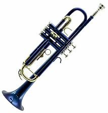 **GREAT GIFT** Beautiful Band Approved Blue/Gold Trumpet w Hard Case CLEARANCE