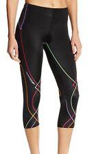 CW-X Womens Activewear 3/4 Leggings Black Size Large L Stabilyx Capri $95- 457