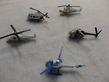 Matchbox Die Cast Police Helicopters 5 Lot
