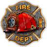 """Maltese Cross Firefighter Flame Fireman Fire Car Bumper Vinyl Sticker Decal 4.6"""""""