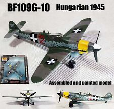 WWII German BF109G-10 Hungarian 1945 aircraft 1/72 diecast plane Easy model