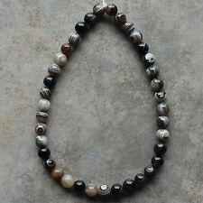 "10mm Botswana Agate Round Loose Beads Gemstone Beads 15"" Strand"