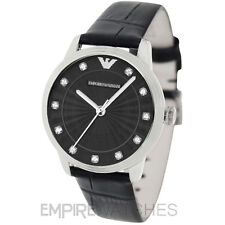 *NEW* LADIES EMPORIO ARMANI DINO RETRO LEATHER WATCH - AR1618 - RRP £189