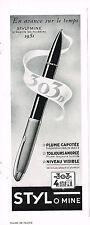 PUBLICITE  ADVERTISING  1950   STYLOMINE 303D   stylo plume capotée