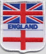 England Union Jack and St George Cross Flag Embroidered Patch Badge