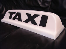 "* NEW DESIGN * TAXI ROOF SIGN WHITE 18"" LED'S AERODYNAMIC TAXIMETER TOPSIGN"