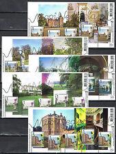 Beautiful Netherlands - Mooi Nederland 2012 5 souvenirsheets -  MNH - Perfins
