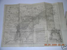 French & Indian War Authentic 1755 Map N. America
