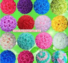 """9""""-10"""" Rose Flower Kissing Ball Silk Rose Pomander for Wedding 1 Pc (21 Colors)"""