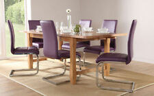 Unbranded Oak Kitchen Up to 10 Seats Table & Chair Sets