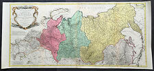 1770 Tobias Lotter Very Large Old, Antique Map of Russia, Siberia & Central Asia