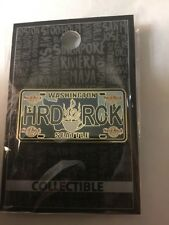 HARD ROCK CAFE PIN SEATTLE LICENSE PLATE