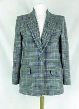 Talbot's Gray Check Wool &  Alpaca Dressy Jacket Blazer Fully Lined Petite Sz 10