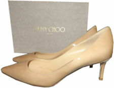 Jimmy Choo Romy 65 mm Pointy Toe Pumps Beige Nude Mid Heels Shoes 40