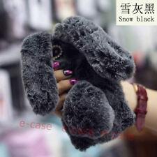 3D Long ears Rabbit hair ball Soft TPU Case Cover For Google Pixel 2 XL/Samsung